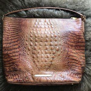Brahmin Croc-Embossed Leather Handbag